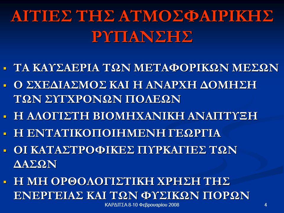 ΑΙΤΙΕΣ ΤΗΣ ΑΤΜΟΣΦΑΙΡΙΚΗΣ ΡΥΠΑΝΣΗΣ