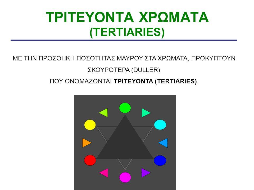 ΤΡΙΤΕΥΟΝΤΑ ΧΡΩΜΑΤΑ (TERTIARIES)