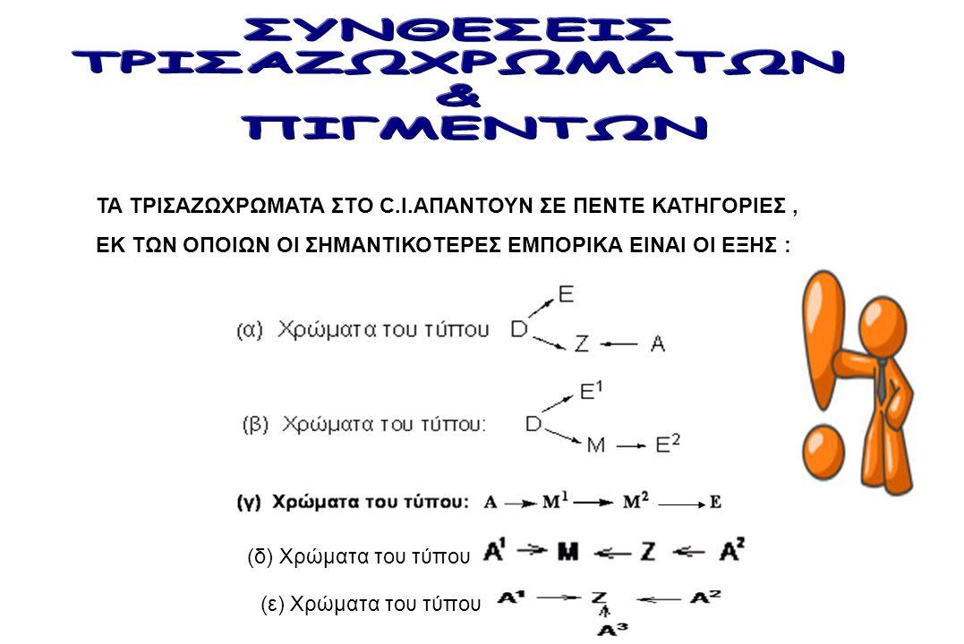 ΣΥΝΘΕΣΕΙΣ ΤΡΙΣΑΖΩΧΡΩΜΑΤΩΝ & ΠΙΓΜΕΝΤΩΝ