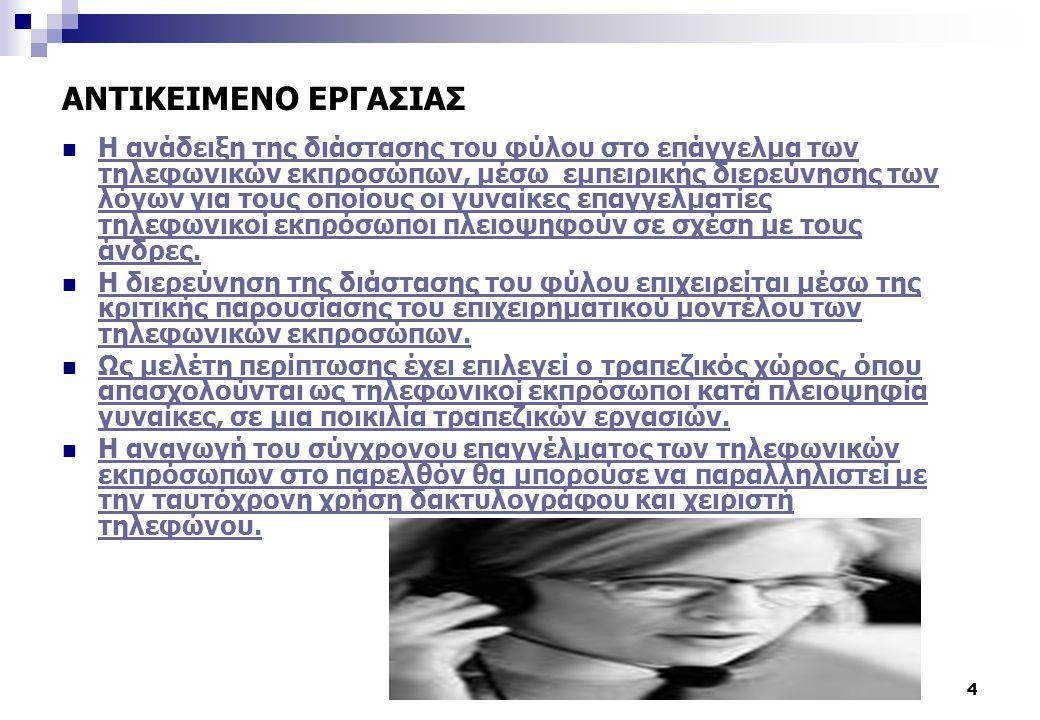 ΑΝΤΙΚΕΙΜΕΝΟ ΕΡΓΑΣΙΑΣ