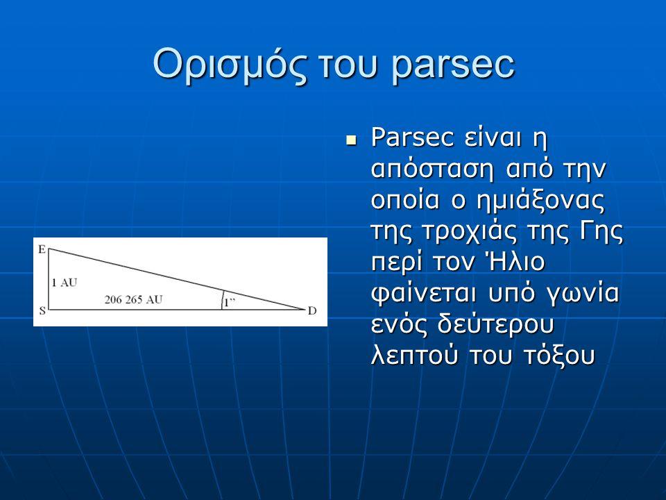 Ορισμός του parsec