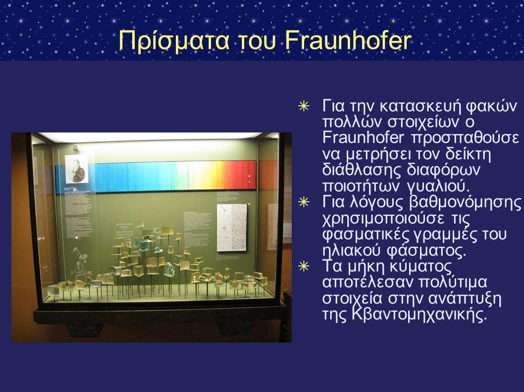 Πρίσματα του Fraunhofer