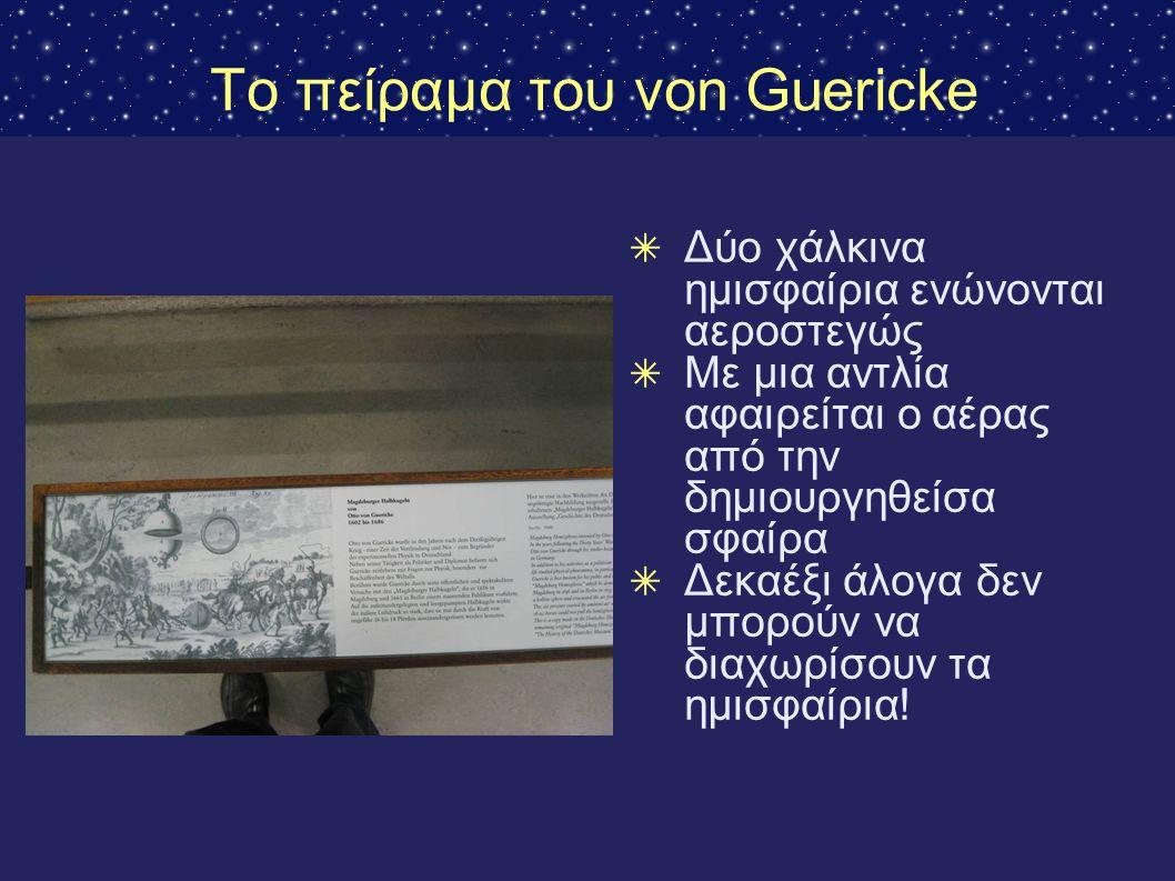 Το πείραμα του von Guericke