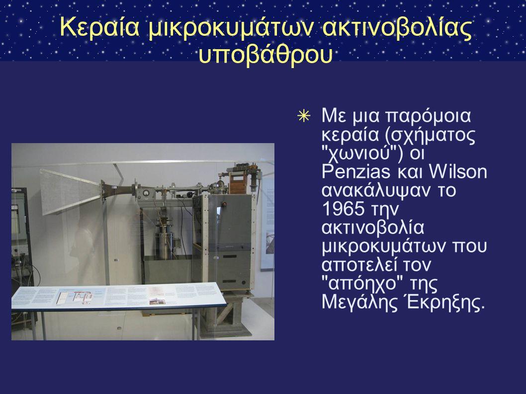 Κεραία μικροκυμάτων ακτινοβολίας υποβάθρου