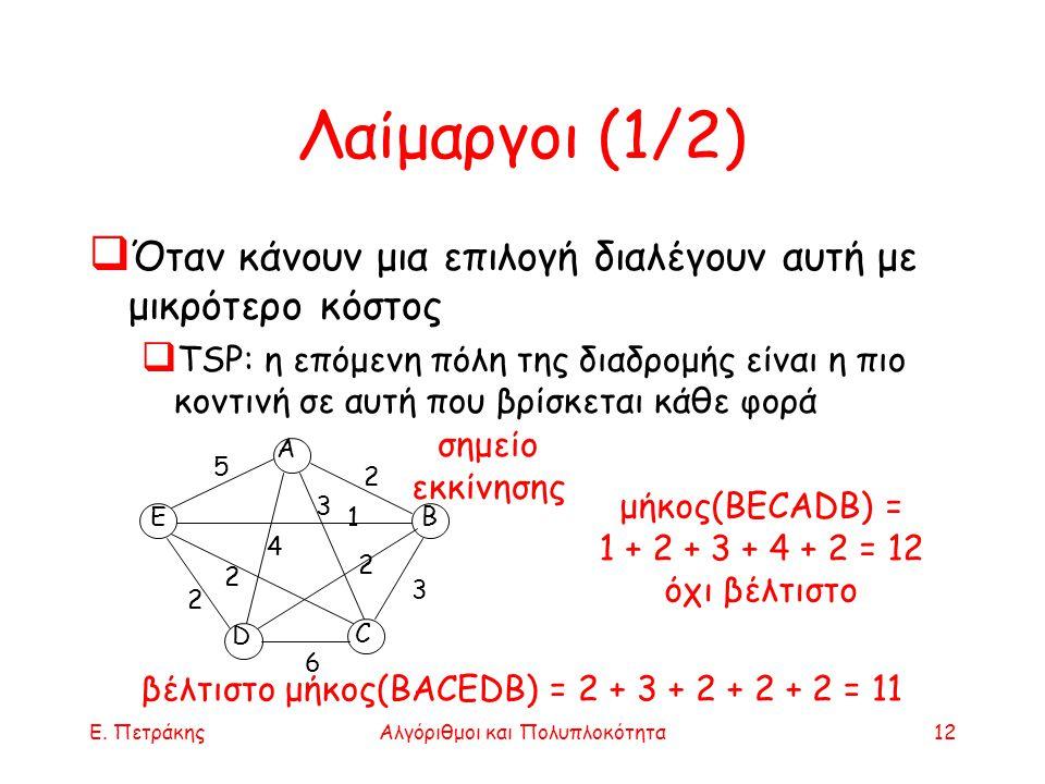Αλγόριθμοι και Πολυπλοκότητα