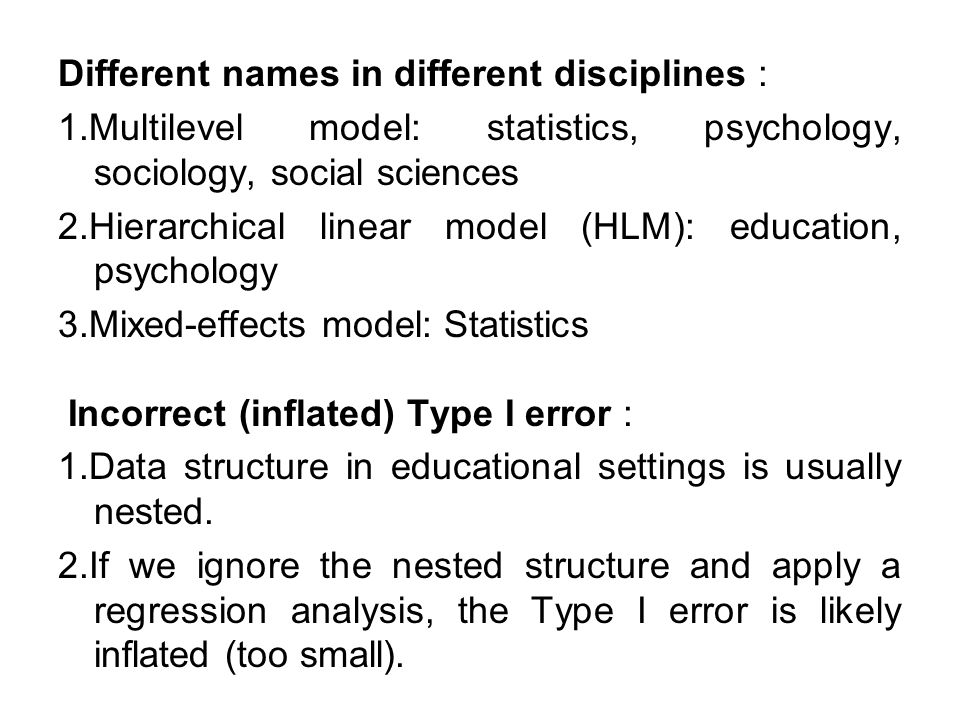 Different names in different disciplines : 1