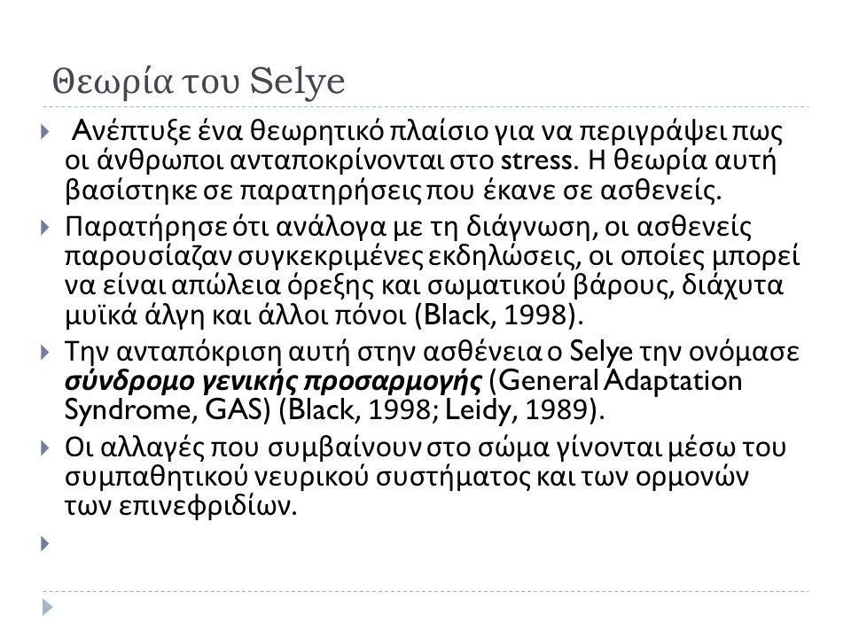 Θεωρία του Selye