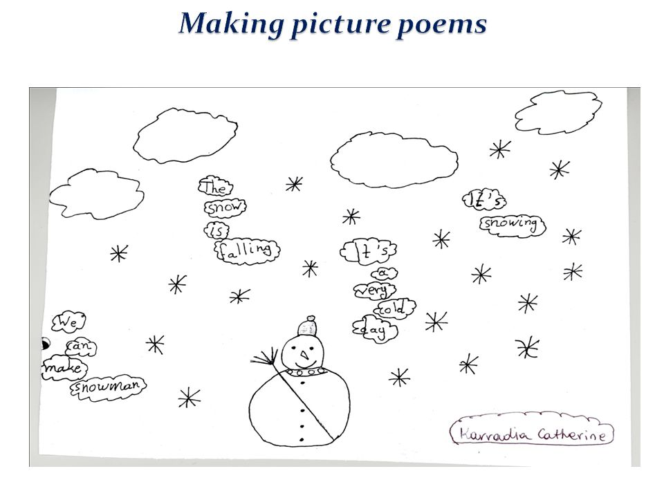 Making picture poems
