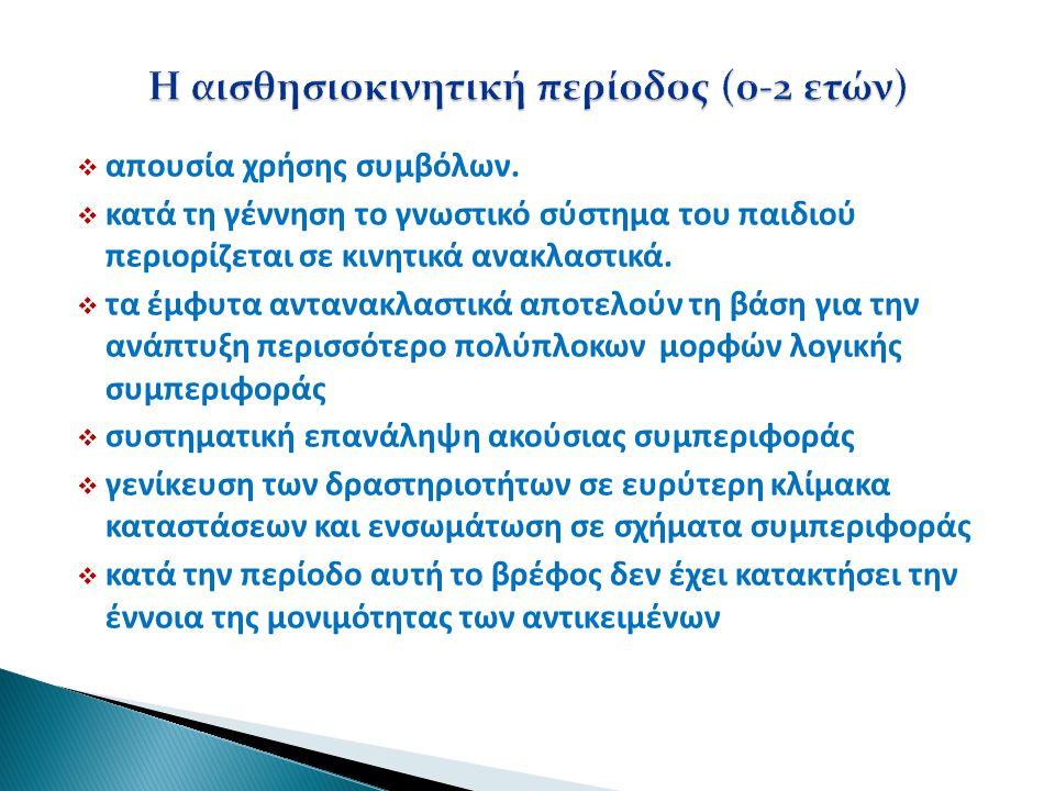 Η αισθησιοκινητική περίοδος (0-2 ετών)