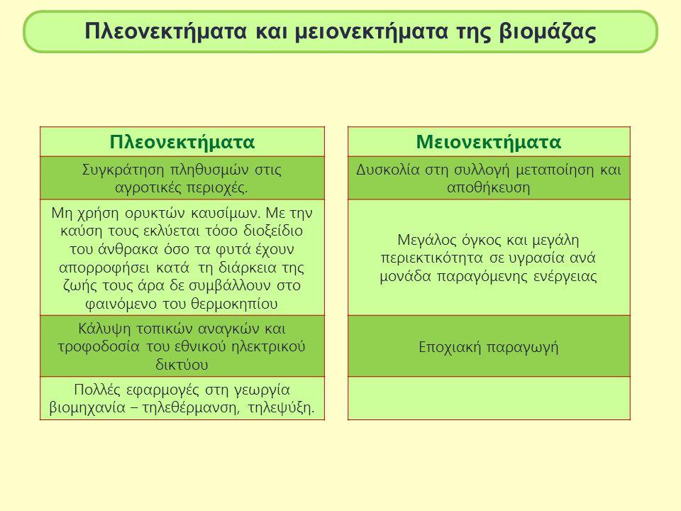 Πλεονεκτήματα και μειονεκτήματα της βιομάζας