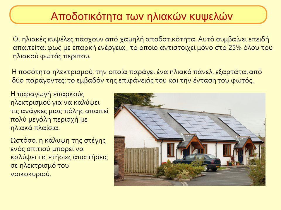 Αποδοτικότητα των ηλιακών κυψελών