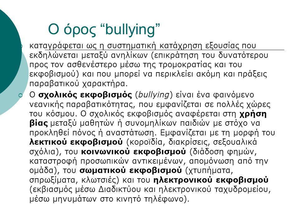 Ο όρος bullying