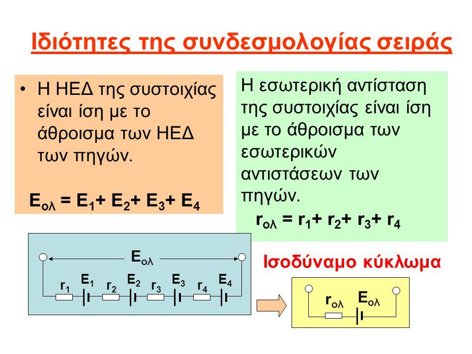 Ιδιότητες της συνδεσμολογίας σειράς
