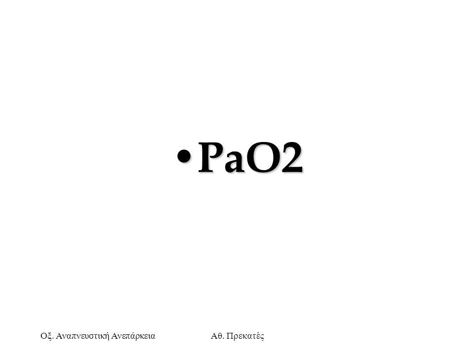 PaO2 Οξ. Αναπνευστική Ανεπάρκεια Αθ. Πρεκατές