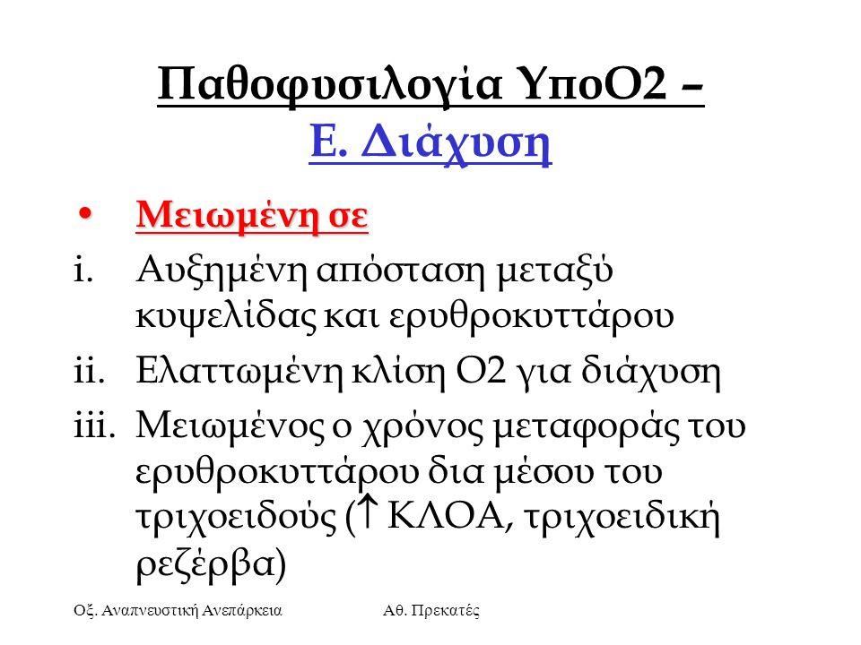 Παθοφυσιλογία ΥποΟ2 – Ε. Διάχυση