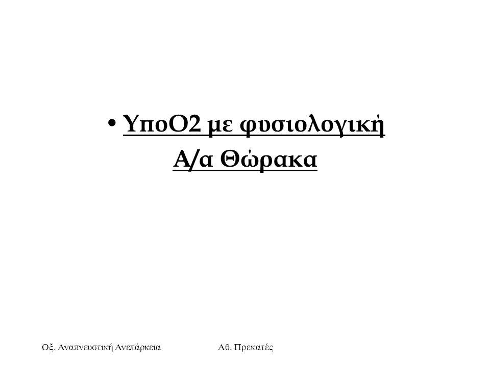 ΥποΟ2 με φυσιολογική Α/α Θώρακα