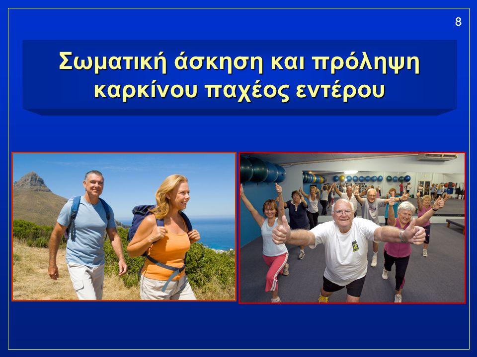 Σωματική άσκηση και πρόληψη καρκίνου παχέος εντέρου
