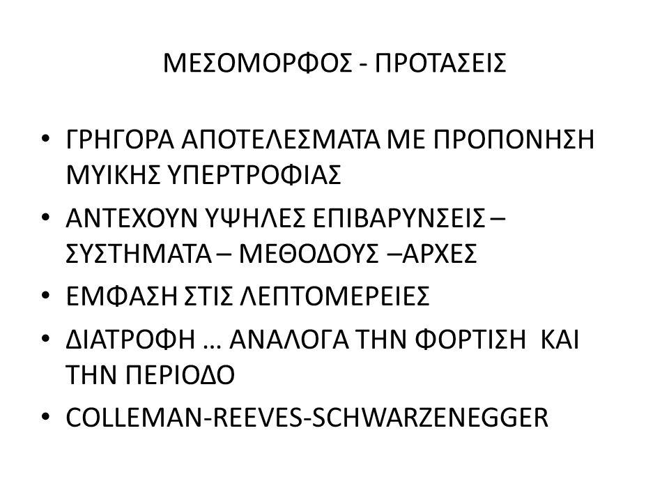 ΜΕΣΟΜΟΡΦΟΣ - ΠΡΟΤΑΣΕΙΣ
