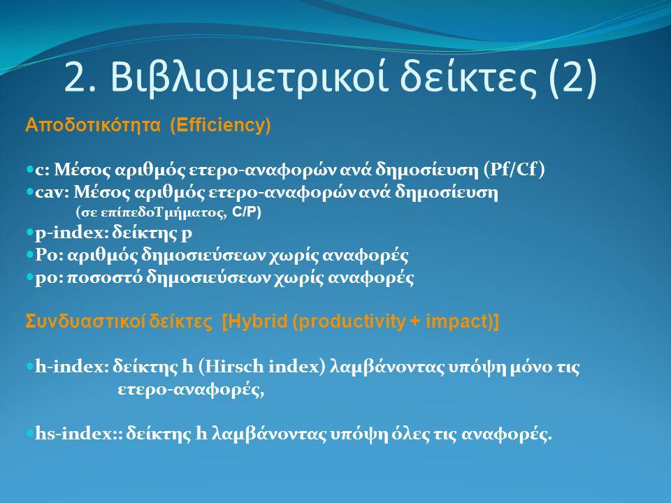 2. Βιβλιομετρικοί δείκτες (2)