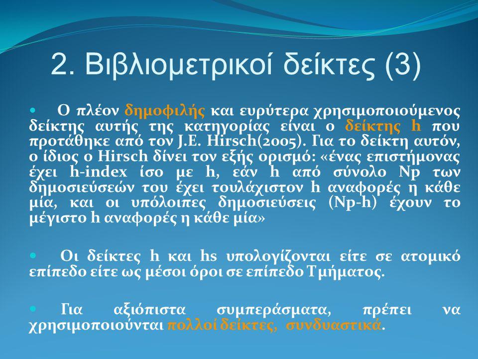2. Βιβλιομετρικοί δείκτες (3)
