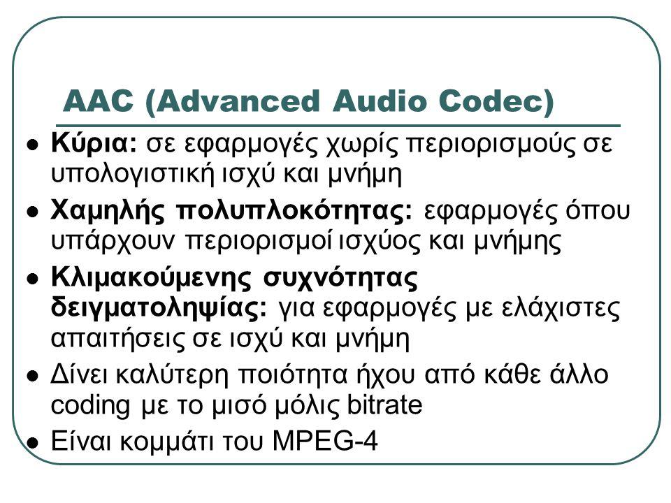 AAC (Advanced Audio Codec)
