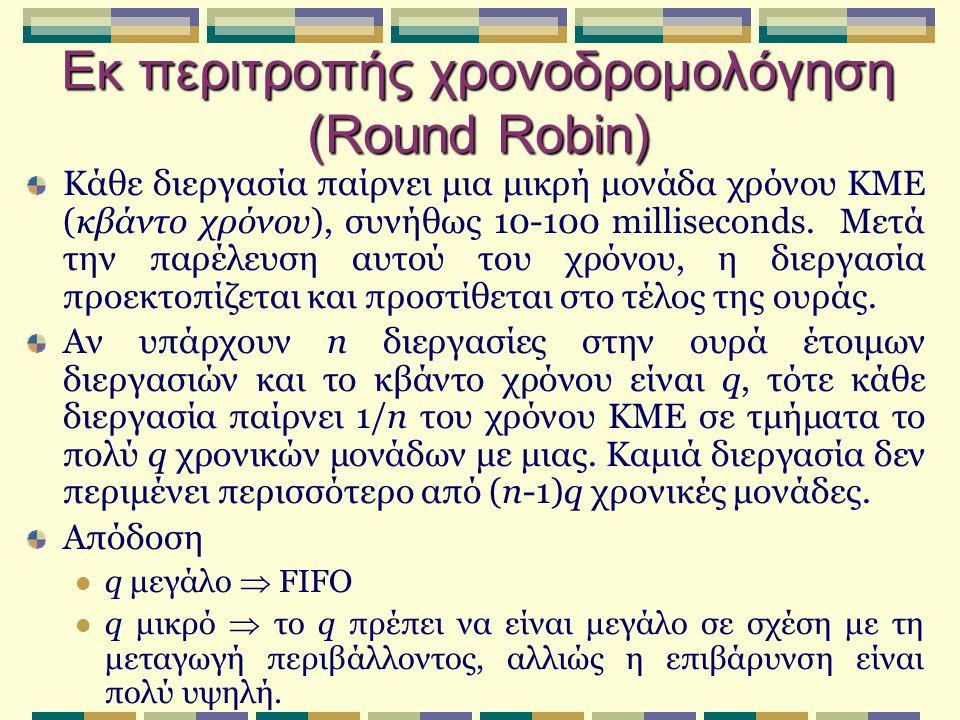 Εκ περιτροπής χρονοδρομολόγηση (Round Robin)