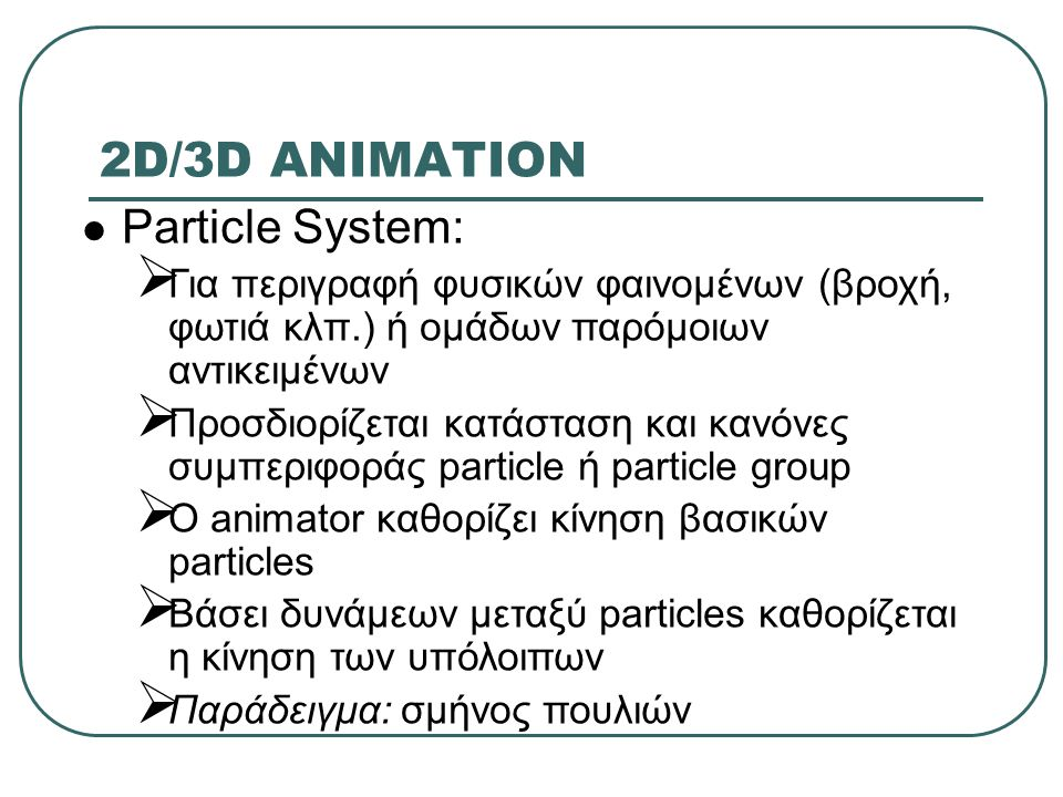 2D/3D ANIMATION Particle System: