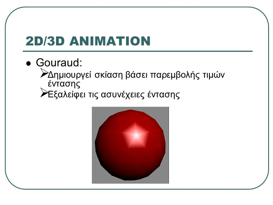 2D/3D ANIMATION Gouraud: