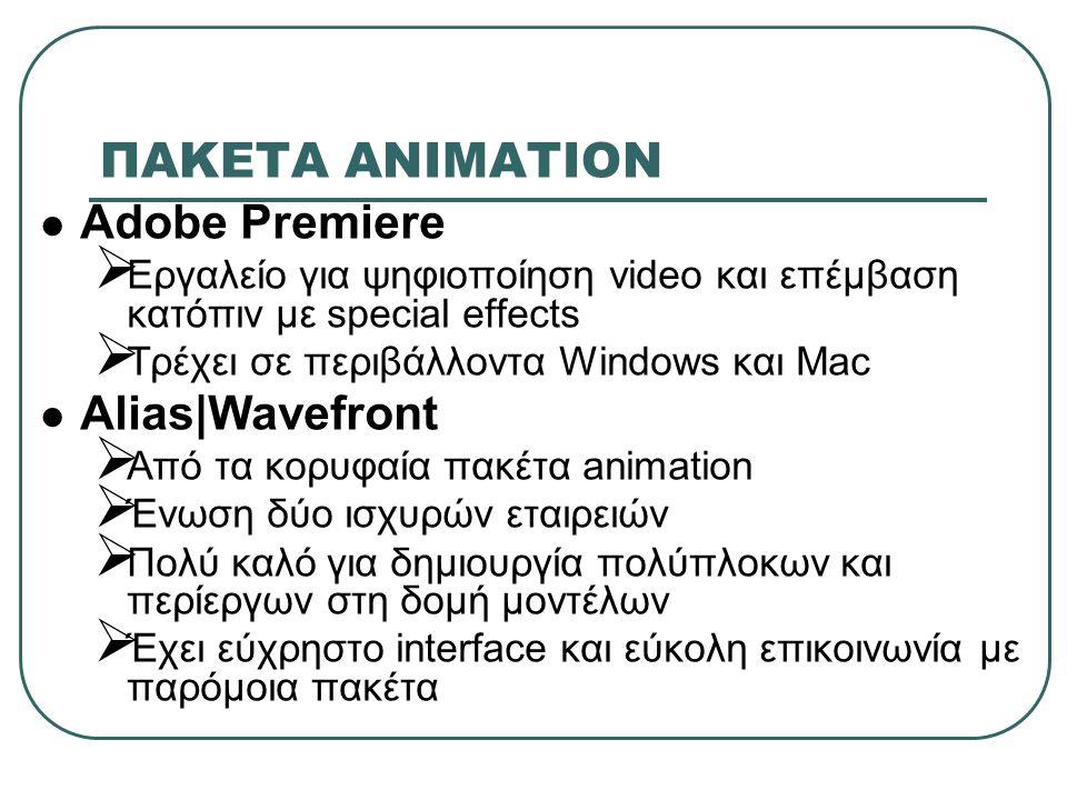 ΠΑΚΕΤA ΑΝΙΜΑΤΙΟΝ Adobe Premiere Alias|Wavefront