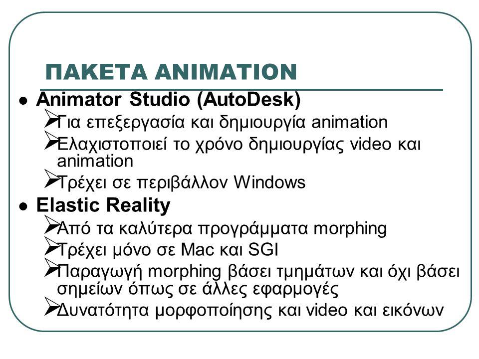 ΠΑΚΕΤA ΑΝΙΜΑΤΙΟΝ Animator Studio (AutoDesk) Elastic Reality