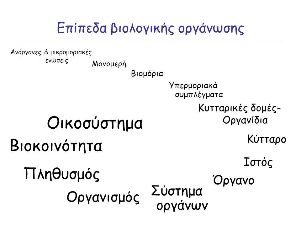 Επίπεδα βιολογικής οργάνωσης
