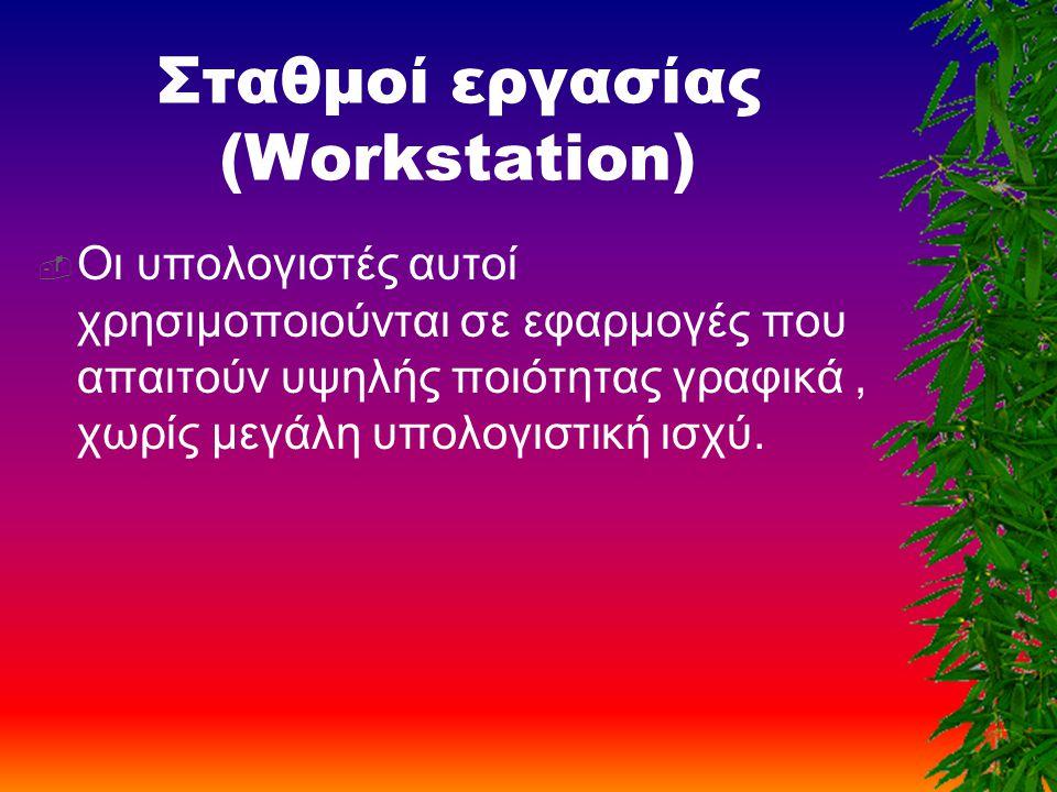 Σταθμοί εργασίας (Workstation)