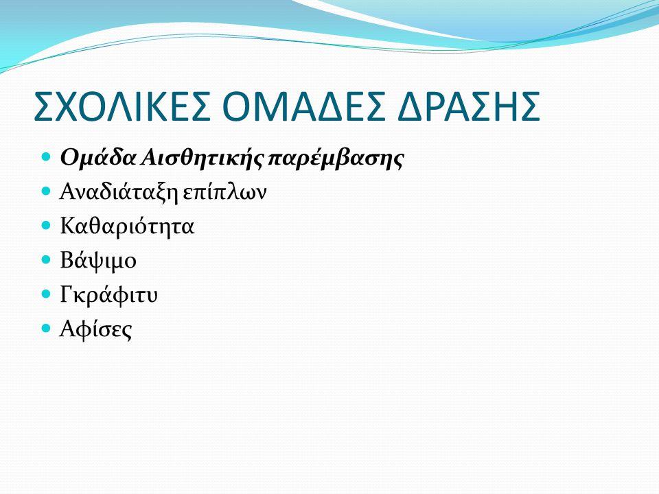 ΣΧΟΛΙΚΕΣ ΟΜΑΔΕΣ ΔΡΑΣΗΣ