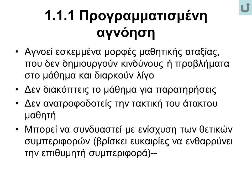 1.1.1 Προγραμματισμένη αγνόηση