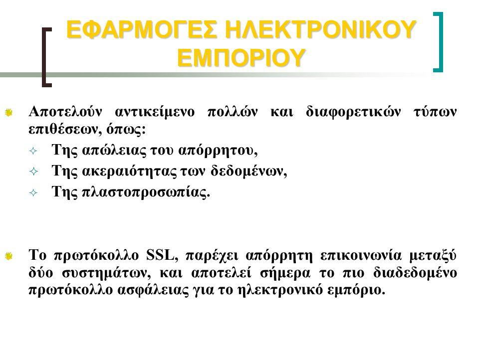 ΕΦΑΡΜΟΓΕΣ ΗΛΕΚΤΡΟΝΙΚΟΥ ΕΜΠΟΡΙΟΥ