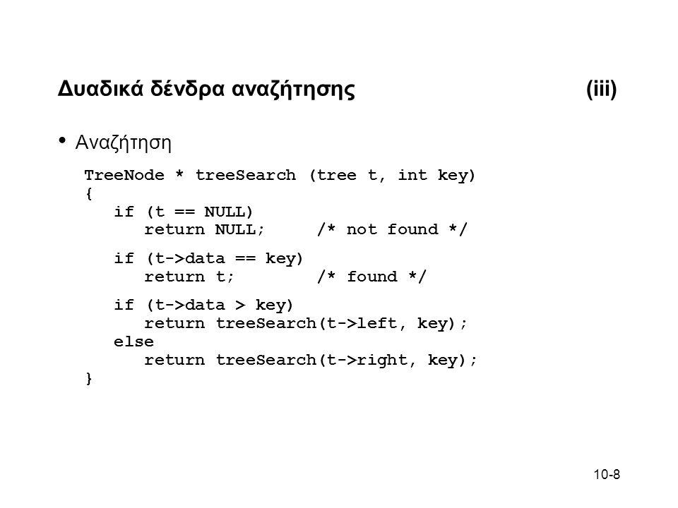 Δυαδικά δένδρα αναζήτησης (iii)