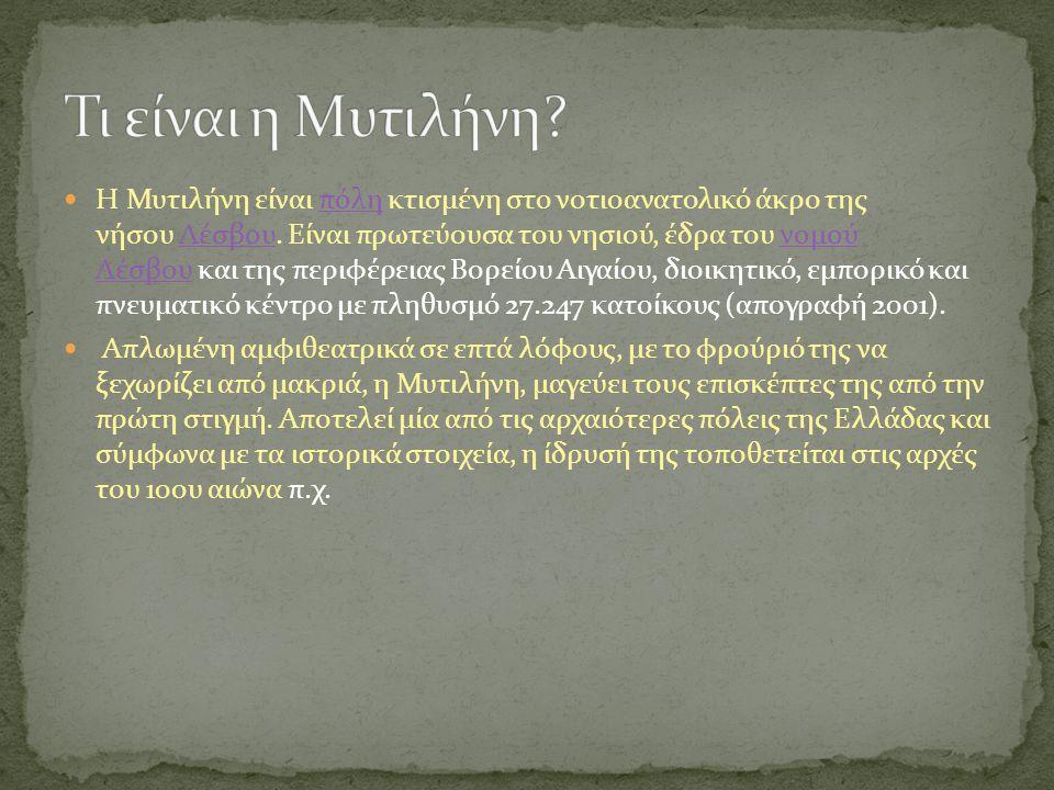 Τι είναι η Μυτιλήνη