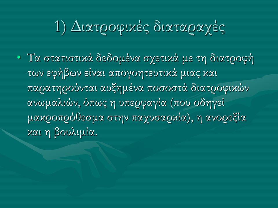 1) Διατροφικές διαταραχές