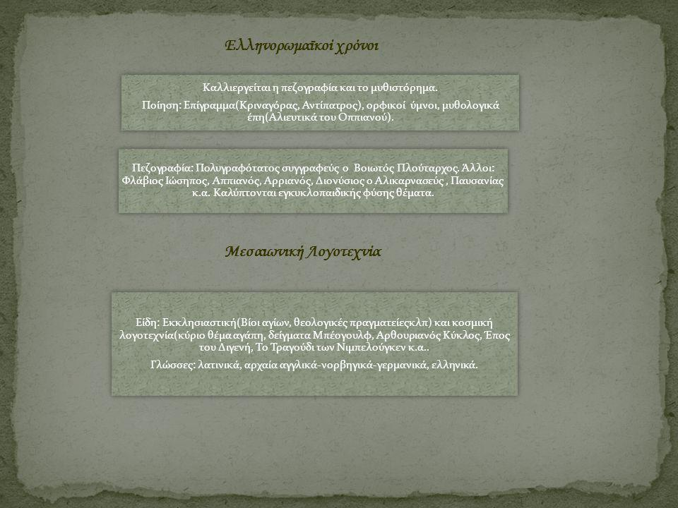 Ελληνορωμαϊκοί χρόνοι