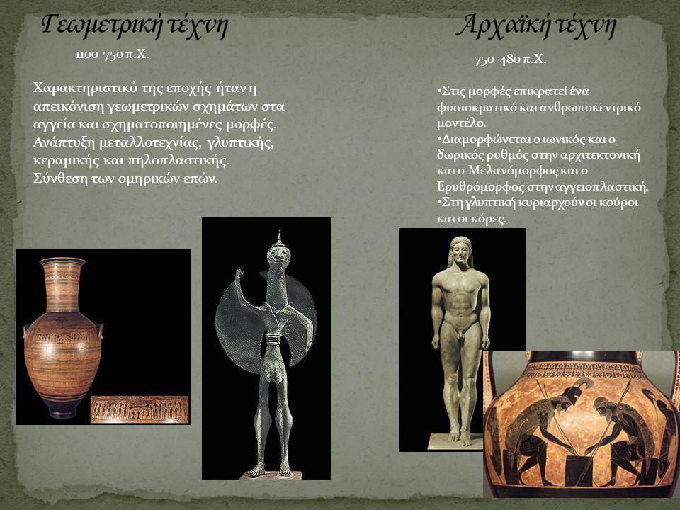 Γεωμετρική τέχνη Αρχαϊκή τέχνη