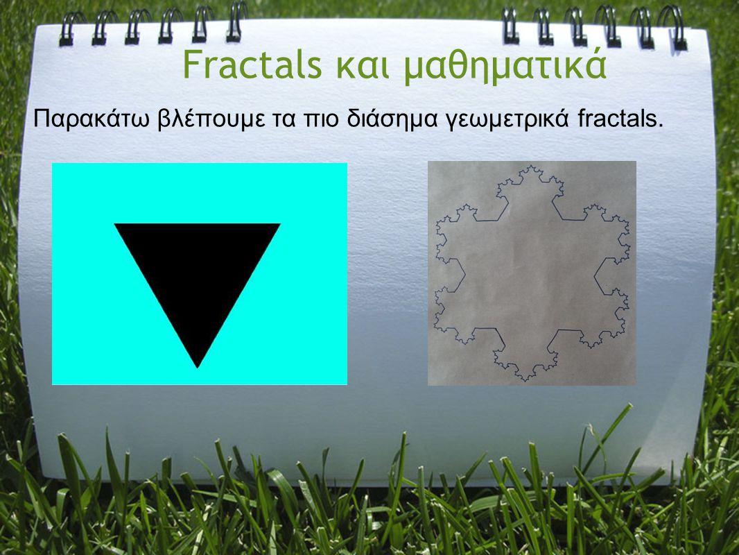 Fractals και μαθηματικά