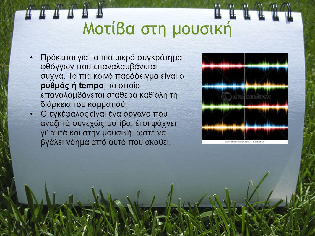 Μοτίβα στη μουσική