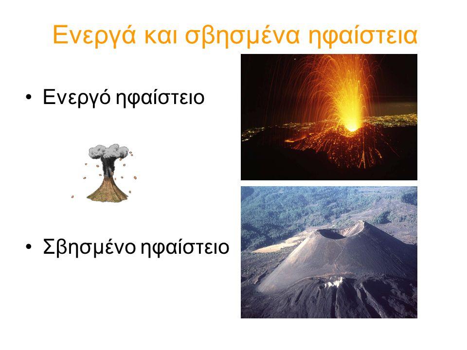 Ενεργά και σβησμένα ηφαίστεια