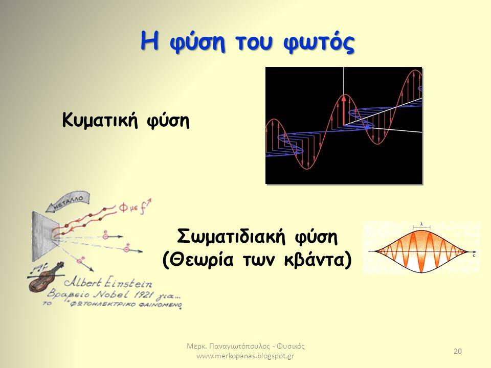 Σωματιδιακή φύση (Θεωρία των κβάντα)