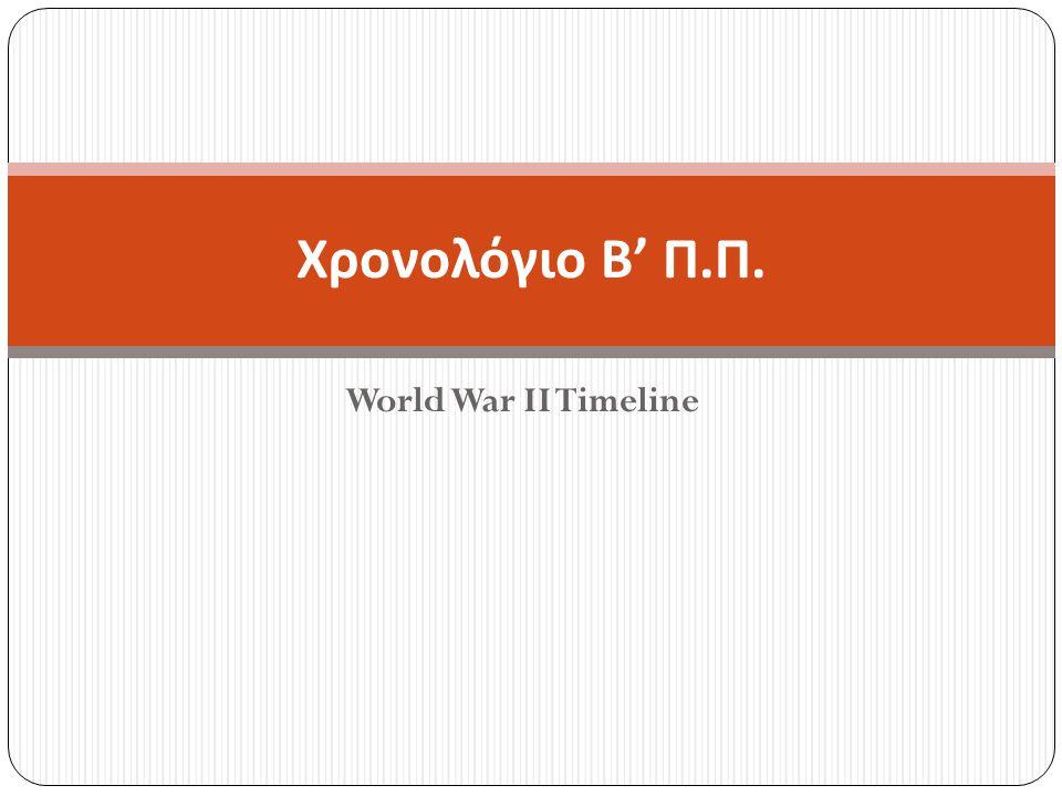 Χρονολόγιο Β' Π.Π. World War II Timeline