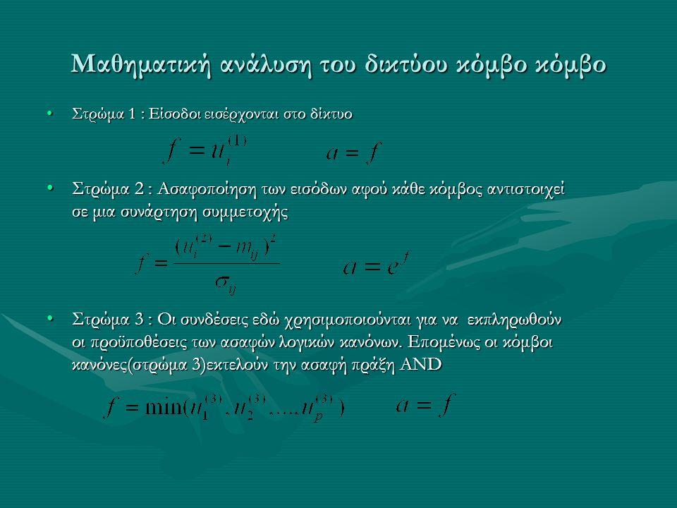 Μαθηματική ανάλυση του δικτύου κόμβο κόμβο