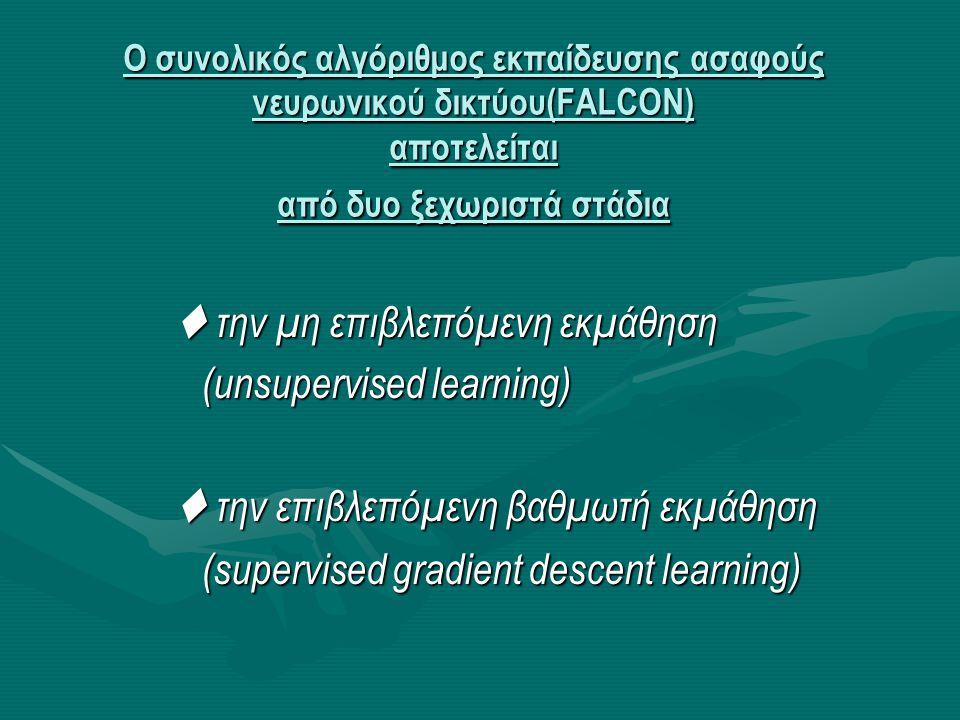  την μη επιβλεπόμενη εκμάθηση (unsupervised learning)