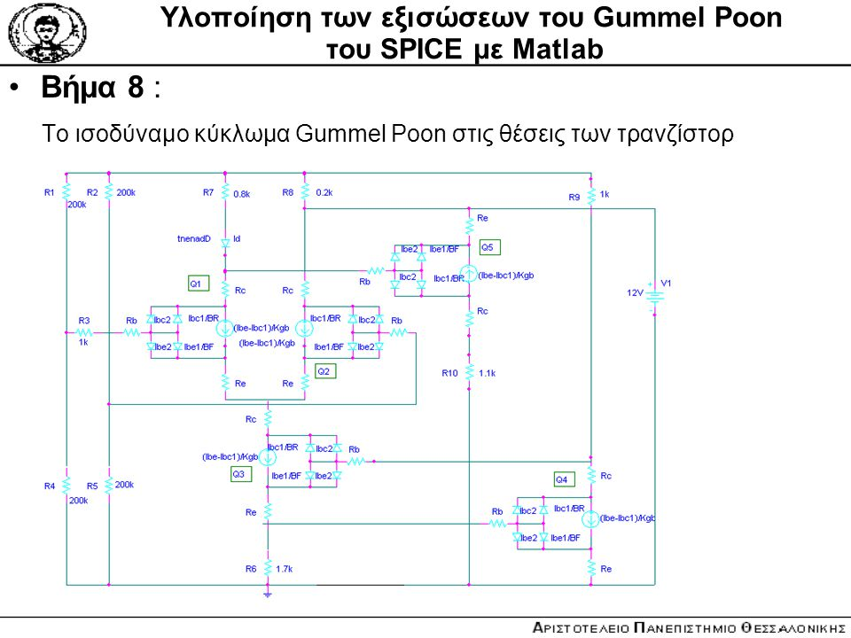 Υλοποίηση των εξισώσεων του Gummel Poon του SPICE με Matlab