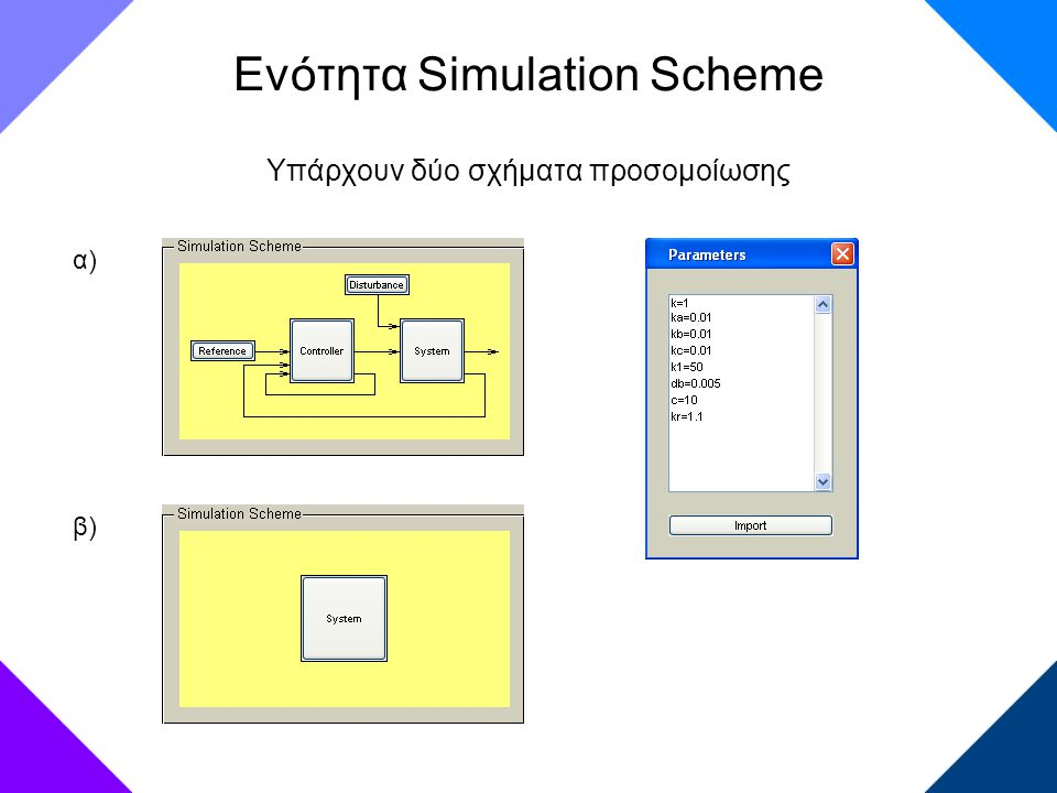Ενότητα Simulation Scheme
