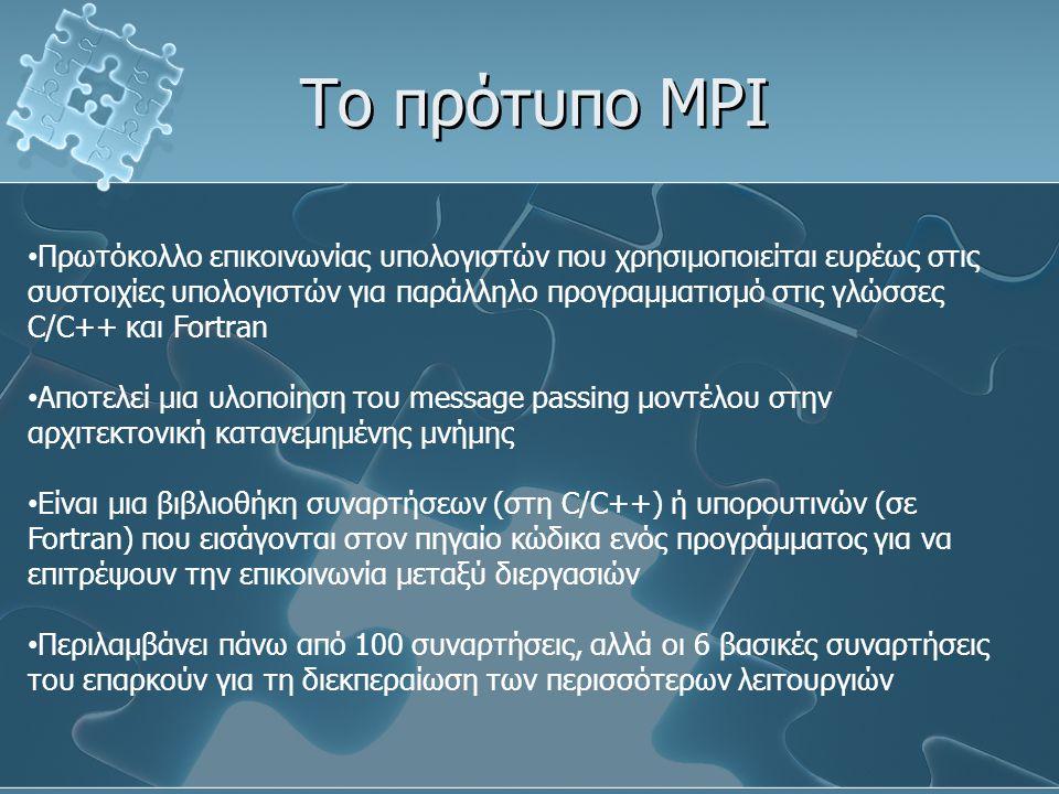 Το πρότυπο MPI